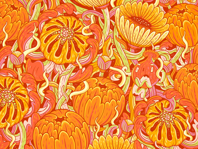 Plant Patch floral gardens plants drawing sketchbook illustration