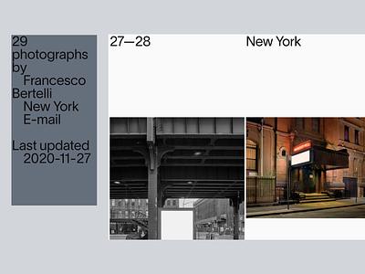 Photography Portfolio portfolio site portfolio mobile photo photographer photography responsive web typography ux vector branding ui design minimal