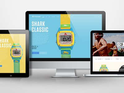 Watch Store Concept ecommerce store watch