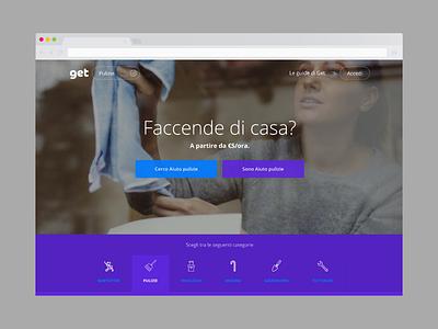 Get. finder purple homepage landing search job classified