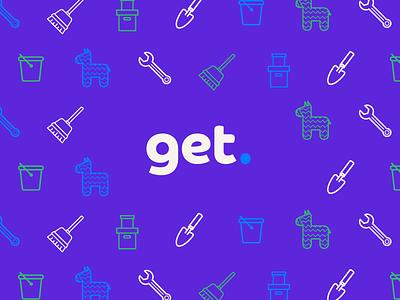 Get. Logo pattern icons bold typeface