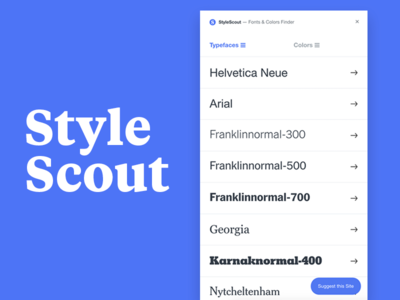 Style Scout – Identify fonts & colors typeface typefaces type font fonts plugin extension identifont typography chrome