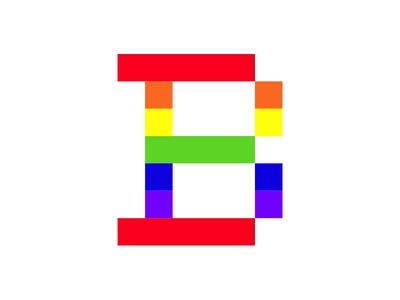 The Braintree B logomark pride braintree