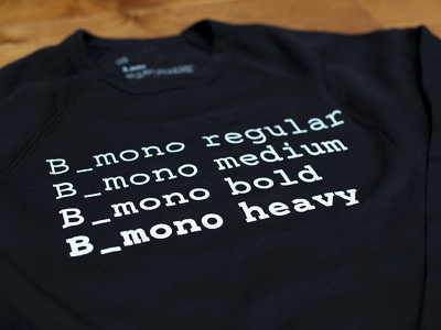 Custom Font crewneck monospace font braintree font b-mono