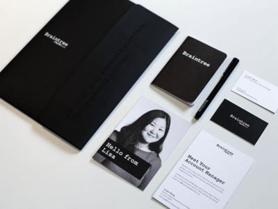 Braintree Marketing / Sales / Accounts Materials accounts sales enablement marketing braintree set businesscards folder branding stationary