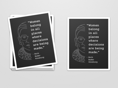 Ruth Bader Ginsburg [RGB] Unity Stickers diversity and inclusion women empowerment paypal braintree stickers support women in tech womens day ruth bader ginsburg women in tech