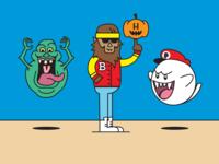 "Throwback ""on-brand"" Halloween"