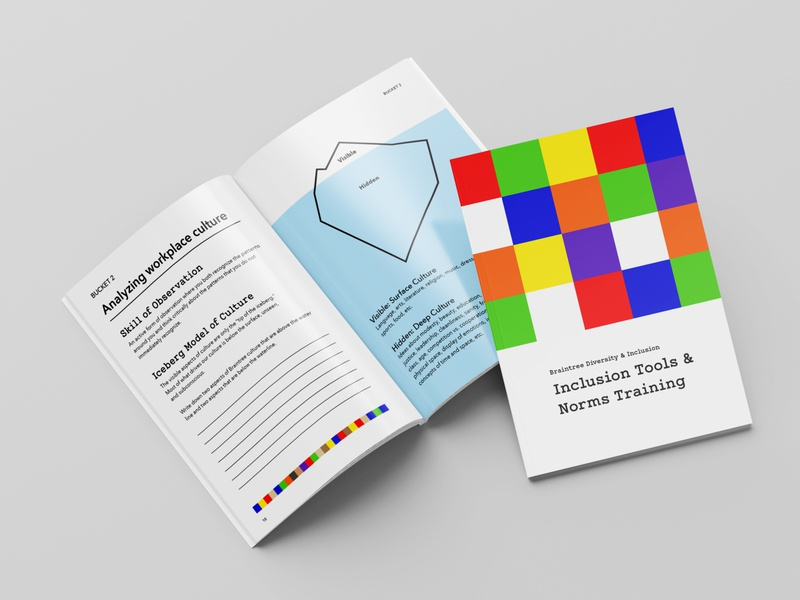 Inclusion Tools & Norms Training Workbook unconscious biases graphic design workbook training diversity and inclusion