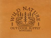 WILD NATURE! outdoor badge branding badgedesign illustration