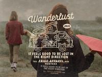Wanderlust! outdoorapparel illustration