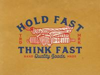 HOLD FAST! motorcycle apparel design branding supplyanddesign illustration clothingbrand clothing design