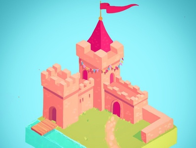 castle tile procreate app cute character illustration