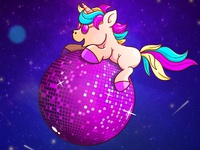 Unicorn space disco