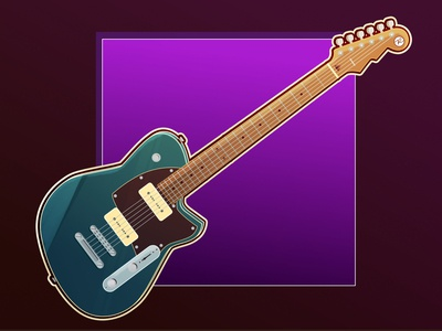 Reverend Charger cartoon illustraion illustration affinitydesigner vector art guitar