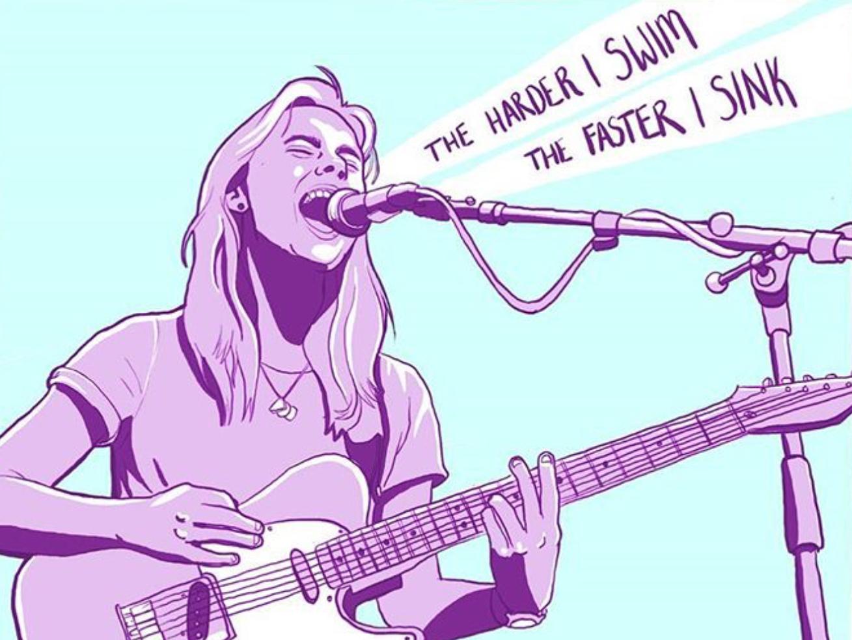 julienne baker guitar affinitydesigner illustraion affinity design vector illustration