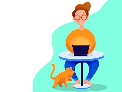 working character affinity design vector illustration cartoon