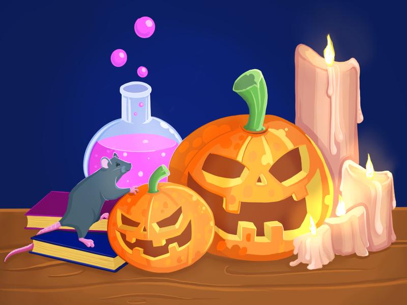 halloween procreate app illustration cartoon halloween