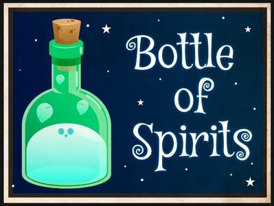 bottle of spirits affinity design vector cute illustration spooky