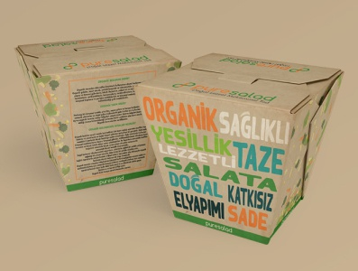 Pure Salad Ambalaj Tasarımı logo naturalistic natural design packing design packing