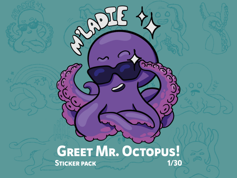 Mr. Octopus character design octopus character drawing illustration