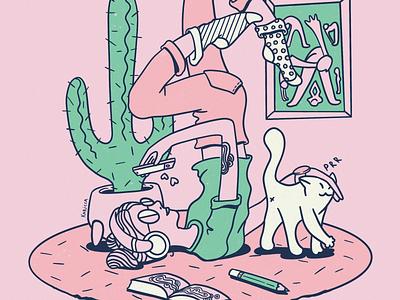 Procrastination illustration drawing