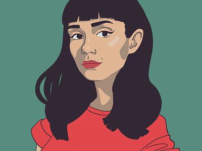 Self portrait helsinki portrait girl art illustration drawing