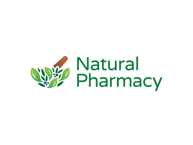 Natural Pharmacy Logo logo brand identity pestle herb pharmacy pharmaceutical medicine health bio