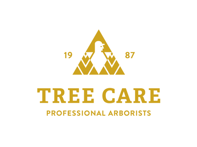 Tree Care - Single Color logo symbol logo mark negative space