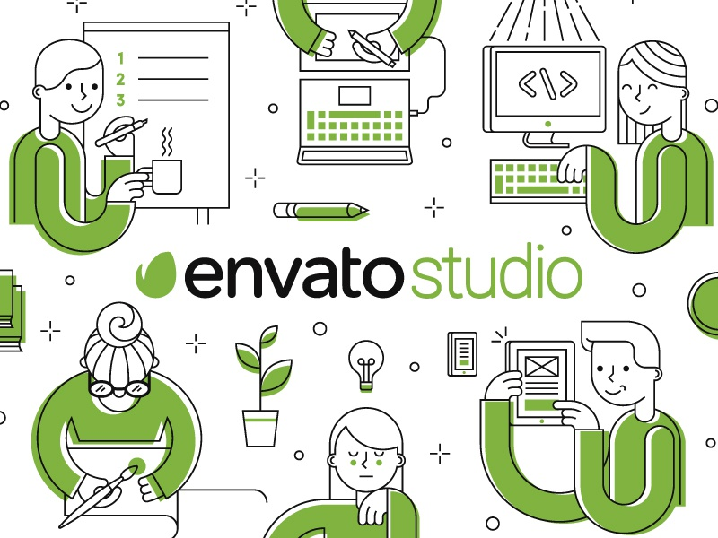 envato studio t-shirtagnese lo - dribbble, Powerpoint templates