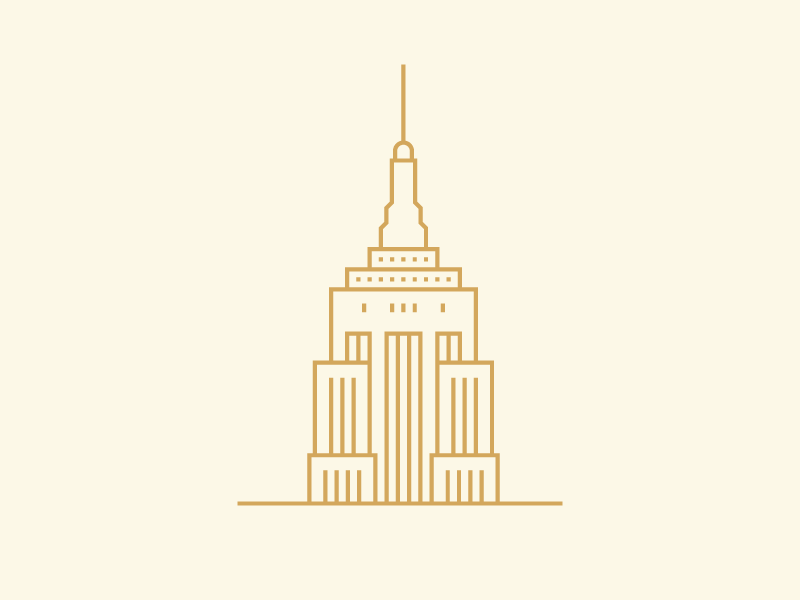 Empire State empire state building minimal town city vector geometric empire state new york illustration monoline building nyc