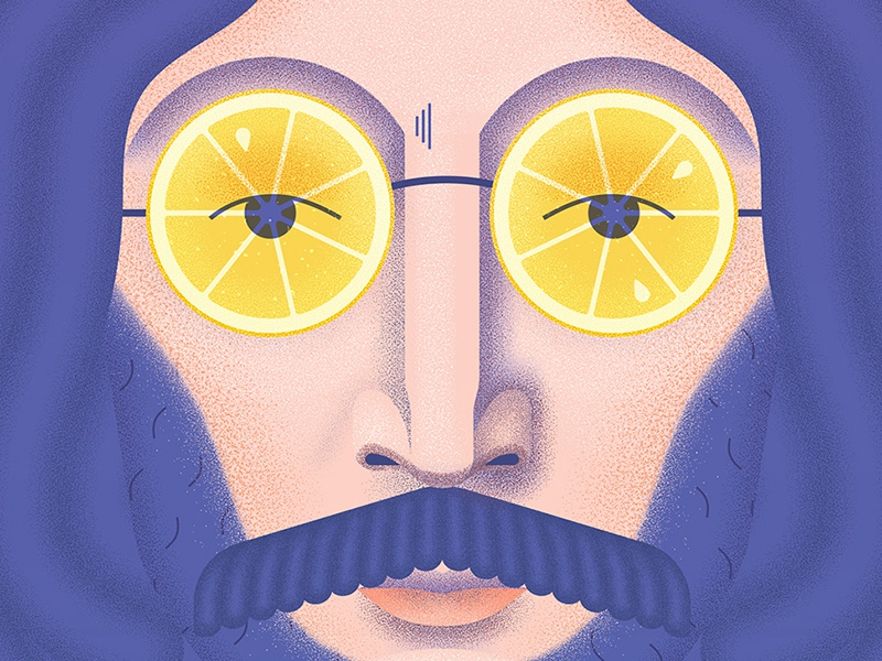 John Lemon thebeatles beatles vector face character illustration texture lemon portrait john lennon