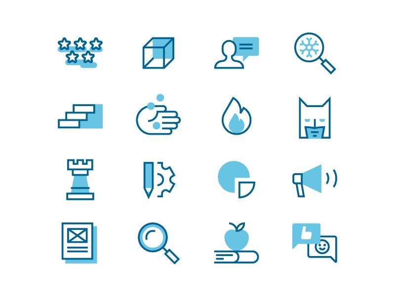 Marketing Icons content strategy stroke icon set flat set duotone line iconography icon marketing icons