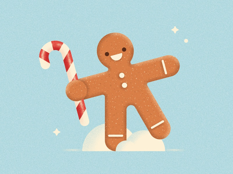 Gingerbread festive biscuit happy snow winter texture illustration gingerbread man holidays candy cane christmas gingerbread