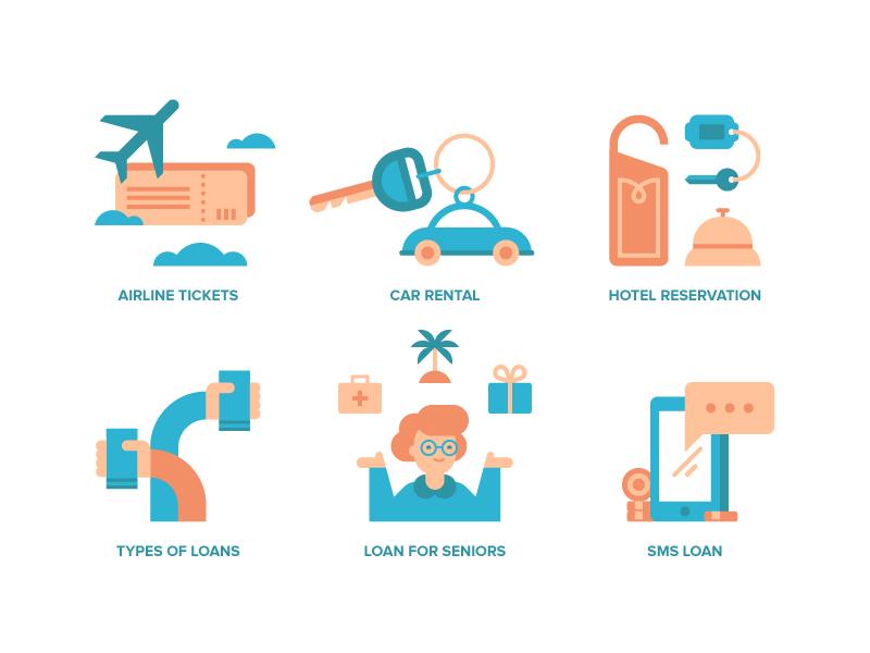 Comparo Illustrations IV travel car senior loan illustration spot illustration