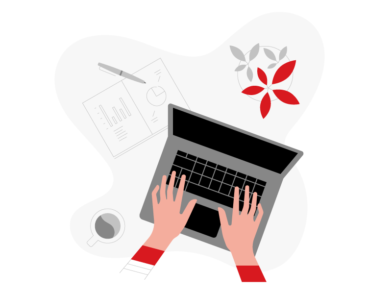 Get in Touch laptop illustration