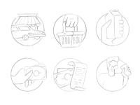 Copyright agneselo dribbble hotbutton icons sketches