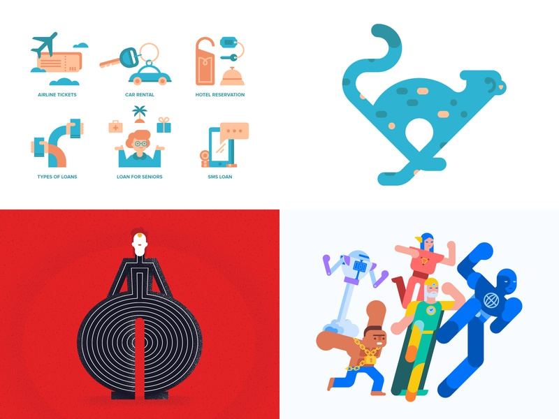 2018 spot illustration vector geometric flat illustration