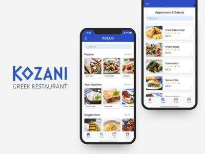 Kozani Greek Restaurant App