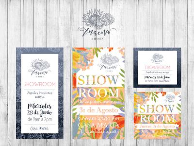 Anaena showroom graphic design display showroom branding design