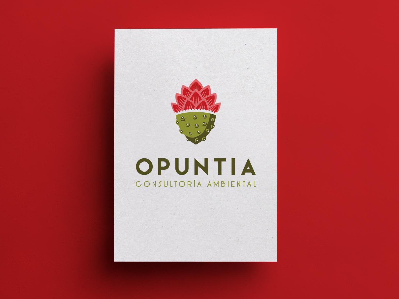 Opuntia business card identity branding brand branding agency branding branding design logotype aurea carmin design studio logodesign business card design businesscard