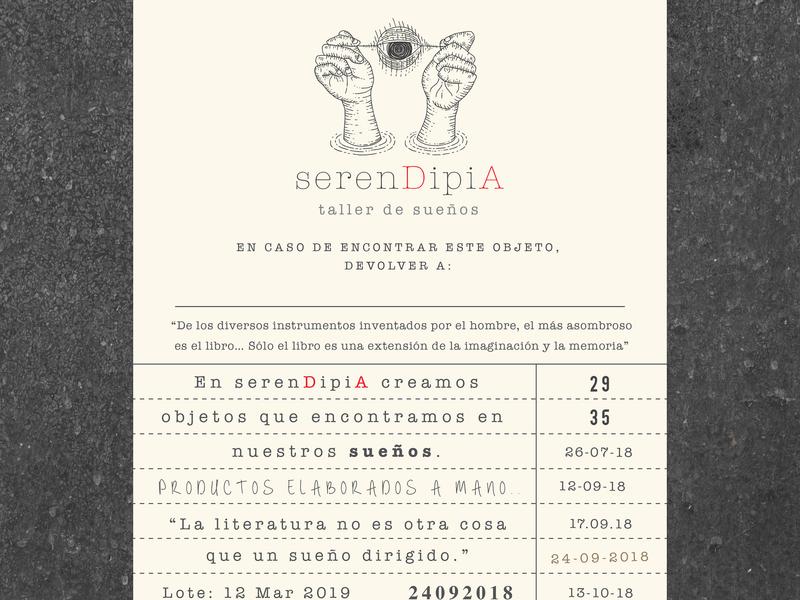 serenDipiA label design brand design branding designer design studio aurea carmin logo design label packaging labeldesign tag label