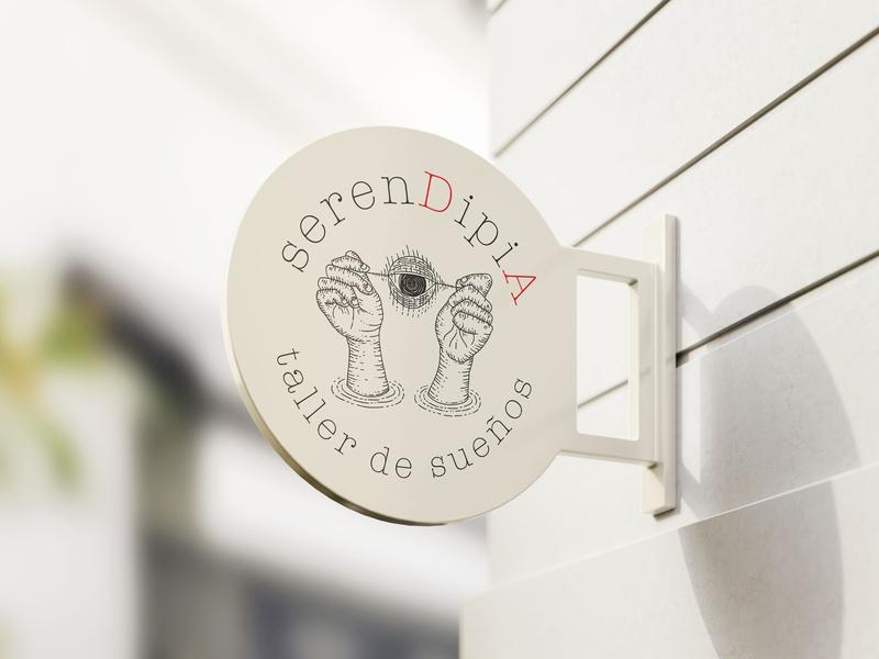 serenDipiA brand aurea carmin design studio sign design outdoors branding design sing branding serendipity serendipia