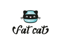 Fat cat logo design