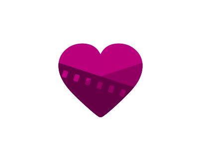 Emotions in motion film cinematography reel filmstrip wedding boda cinematografía cine heart corazón pink wedding cinematography brand logo
