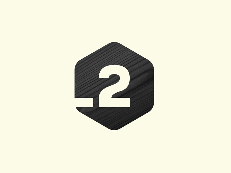 Piso 2 logo logotype brand branding 2 two coworking hexagon space coworking space