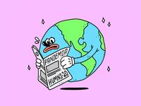 I have to get tested for HUMNS-20 coronarender pandemia pandemic newspaper world illustration design illustrations procreate drawingart drawing corona covid19 covid-19 covid coronavirus design vector illustration