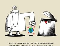 The Lesson illustrations trash god coronavirus covid world drawing ink drawingart comic illustration drawing