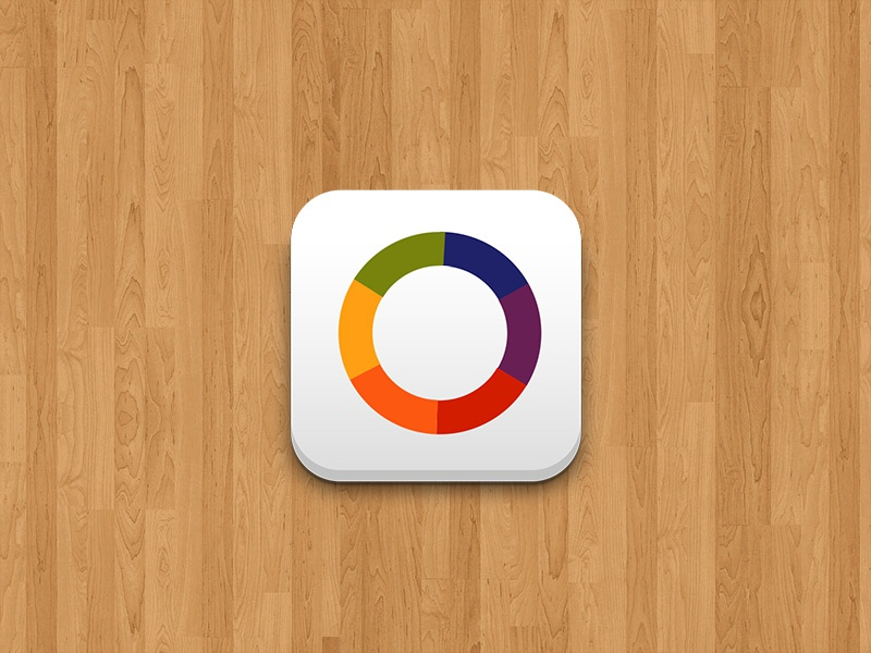 Wopovi brand logo logotipo branding red yellow orange blue green violet icon app iphone ios ipad android mobile design logo design isotype application graphic pie chart