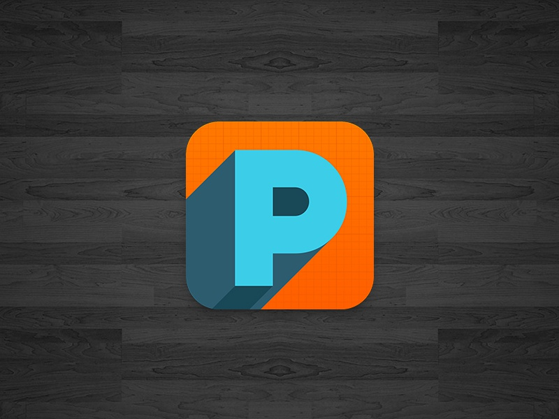 Productívate app tag productive productivity icon logo ipad iphone andorid design orange blue aqua black wood ios isotype startupweekend startup weekend brand branding logo design application mobile graphic p