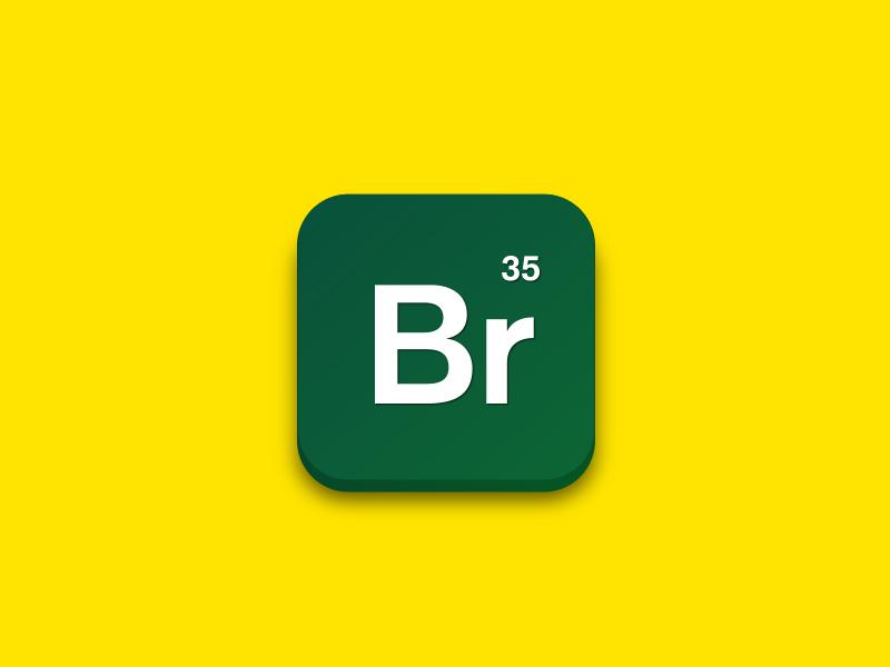 Breaking Bad bad breaking green yellow breaking bad icon app iphone mobile design heisenberg walter white